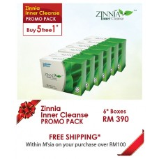 ZINNIA Inner Cleanse 5 FREE 1 Promo Pack