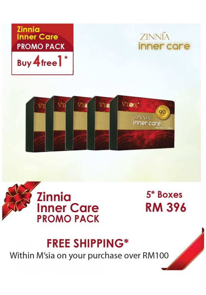 Zinnia Inner Care Buy 4 Free 1 Promo Pack